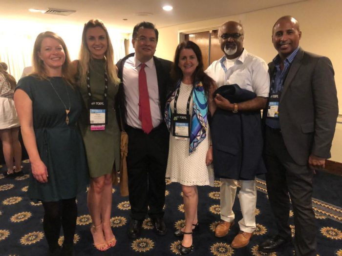 FAUBAI president and vice-president welcomed by the Canadian Government, along with Rachel Lindsey, director of international relations and operations of Languages Canada; Sean Manley Casimir, executive director of Consortium for North American Higher Education Collaboration (CONAHEC).