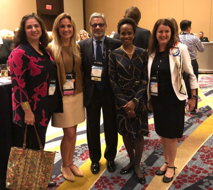 FAUBAI president and vice-president with Ravi Shankar, vice-president of development and professional engagement of NAFSA, and Esther Brimmer, executive director and CEO of NAFSA.